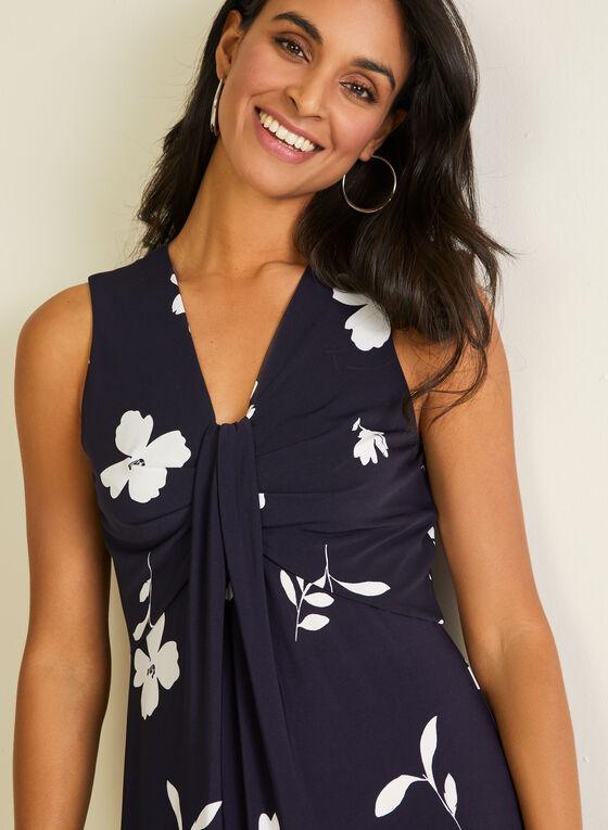 Floral Print Maxi Dress, Blue