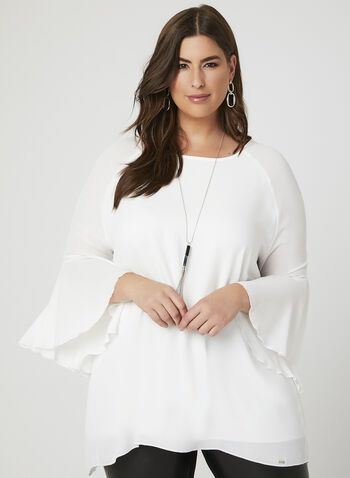 Vex - Long Sleeve Crepe Blouse, Off White, hi-res