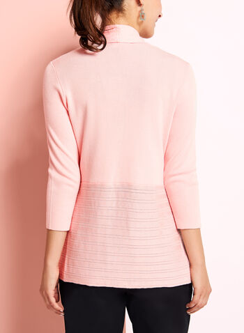 Cardigan ouvert en pointelle, Rose, hi-res