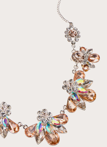 Crystal Cluster Chain Necklace , Pink, hi-res