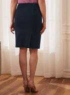 Louben - Slit Detail Pencil Skirt, Blue