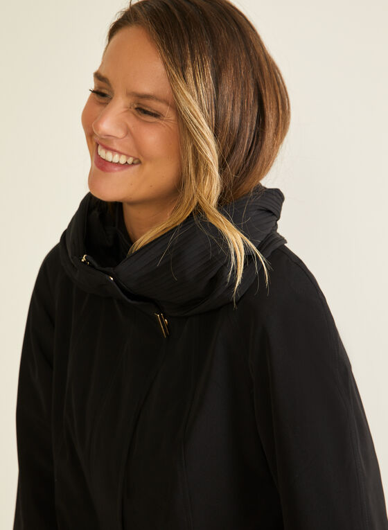 3-Season Hooded Coat, Black