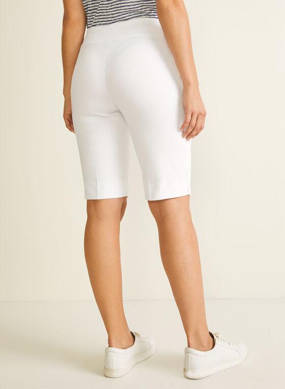 Jules & Leopold - Jacquard Bermuda Shorts, White