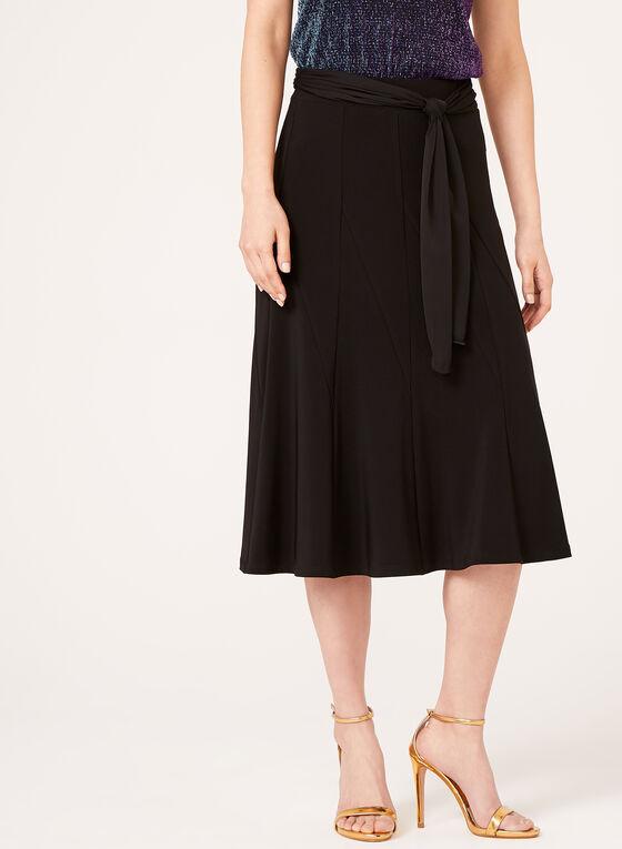 A-Line Midi Skirt, Black, hi-res