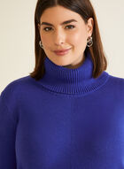 Long Sleeve Cowl Neck Sweater, Blue