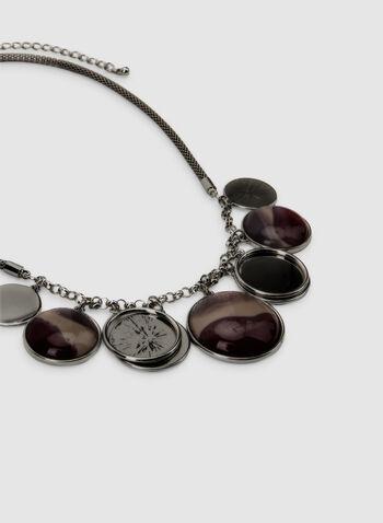 Collier court à pendentifs ronds, Rouge, hi-res,  collier, court, anneaux, ronds, automne hiver 2019