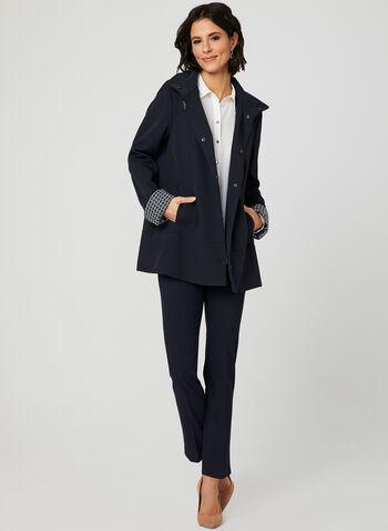 A-Line Raincoat, Blue, hi-res,