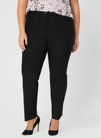 Signature Fit Straight Leg Pants, Black, hi-res,