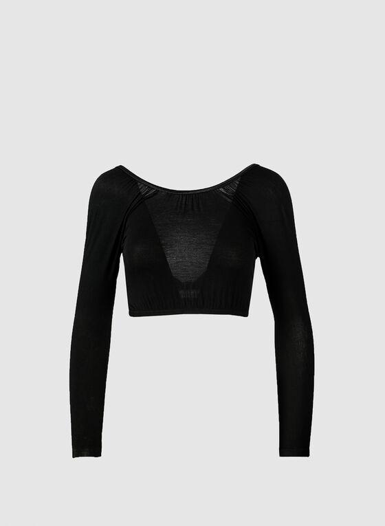 Long Sleeve Under Dress Bolero, Black, hi-res