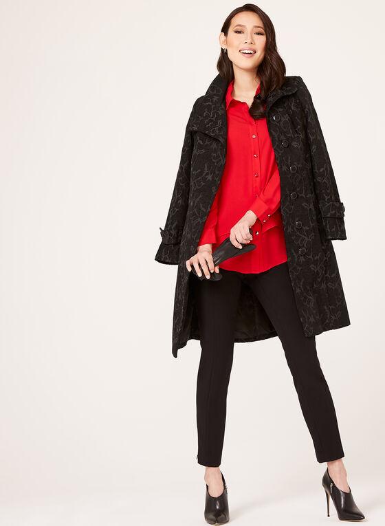 Manteau tapisserie rétro, Noir, hi-res