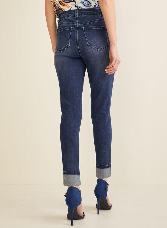 High-Rise Slim Leg Jeans, Blue