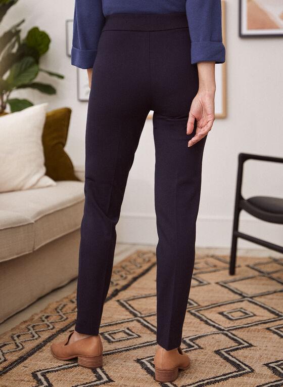 Pantalon pull-on à jambe étroite, Bleu