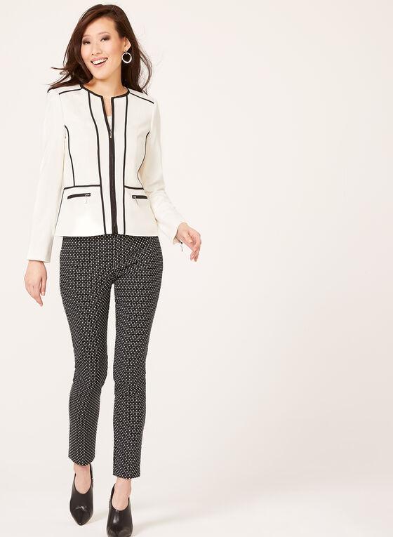 Structured Contrast Jacket , Black, hi-res