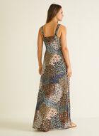 Apricot - Feather Print Maxi Dress, Green