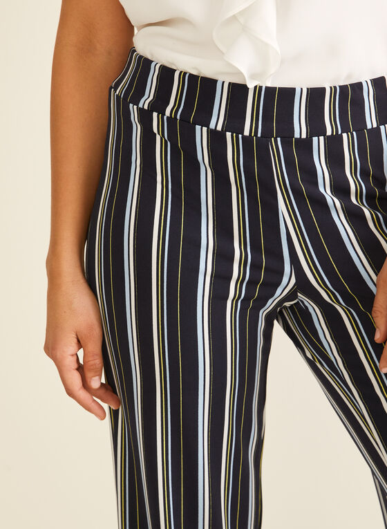 Striped Wide Leg Pants, Blue