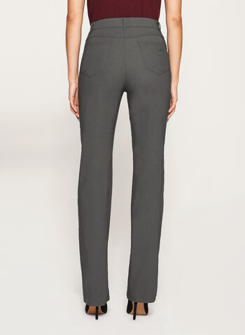 Simon Chang - Microtwill Straight Leg Pants, Grey, hi-res
