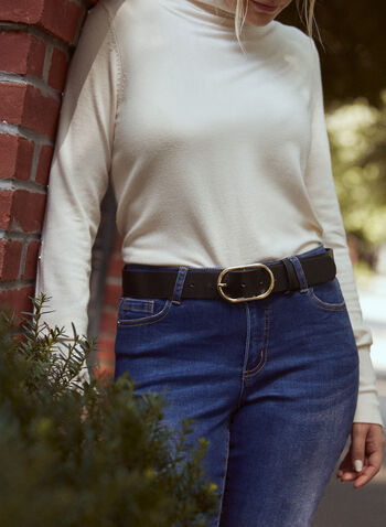 Oval Buckle Vegan Leather Belt, Black,  belt, faux leather, vegan, metallic, buckle, oval, spring summer 2021
