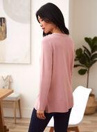 Rib Knit Detail Sweater, Pink