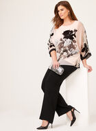Blouse kimono fleurie à manches ¾, Multi, hi-res