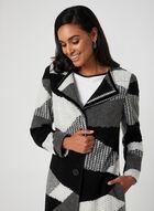 Patchwork Tweed Coat, Black