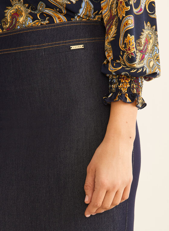 Denim Pencil Skirt, Blue