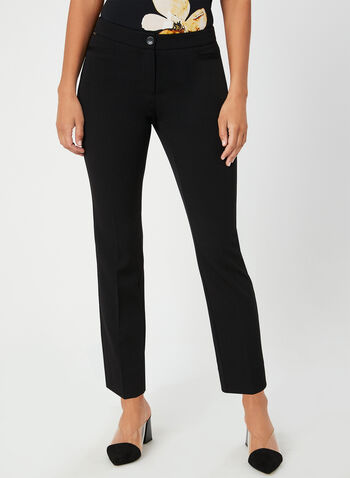 Modern Fit Straight Leg Pants, Black,  bi-stretch, tummy control, ankle length, straight leg, modern fit, fall 2019, winter 2019