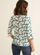 Haut à motif géométrique et nœuds, Vert