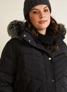 Hooded Down Blend Coat, Black
