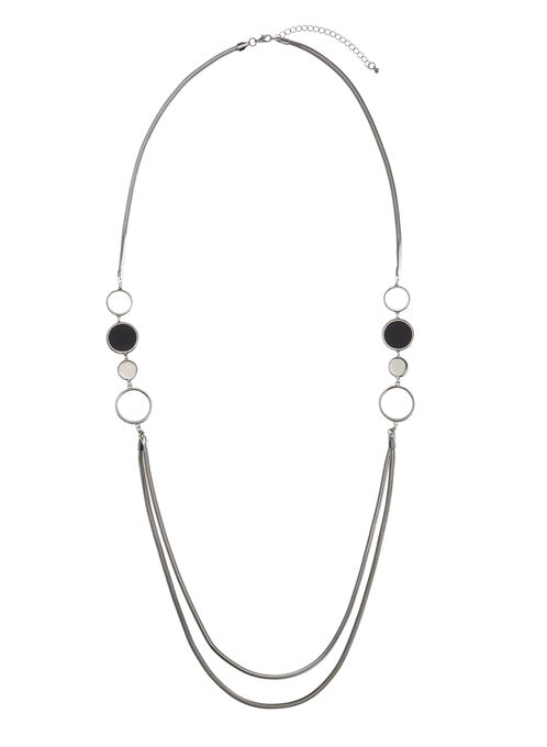 Double-Strand Ring Necklace, Blue, hi-res