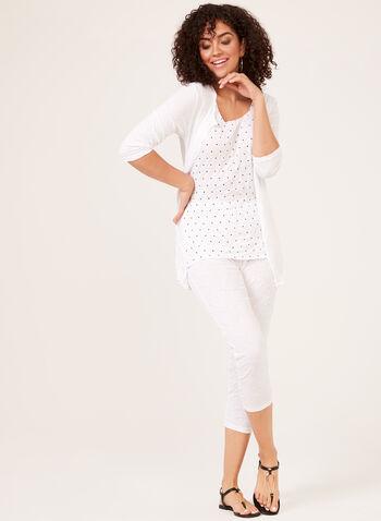 Alison Sheri - Capri pull-on à effet froissé, Blanc, hi-res