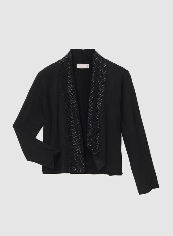 Open Front Bolero, Black, hi-res