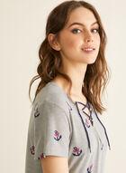 Claudel Lingerie - V-Neck Nightgown, Grey