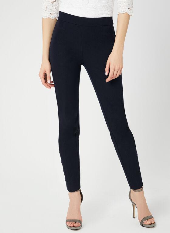 Pantalon coupe cité à détails lacets, Bleu