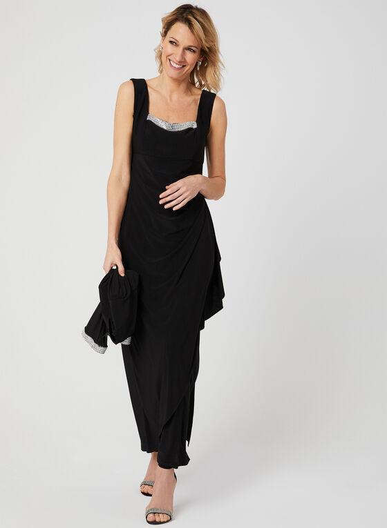 Embellished Dress & Jacket Set, Black, hi-res