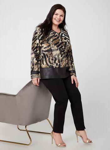 Vex - Animal Print Top, Brown, hi-res,  fall winter 2019, long sleeves, animal print
