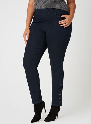 GG Jeans - Modern Fit Eyelet Jeans, Blue, hi-res