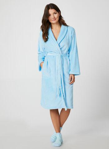 Hamilton - Bathrobe & Socks, Blue, hi-res,  Hamilton, sleepwear, pyjama, bathrobe, socks, fall 2019, winter 2019