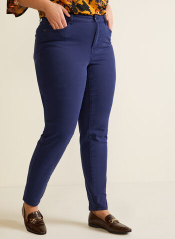 Straight Leg Jeans, Blue,  fall winter 2020, jeans, denim, stretch, five pockets, 5 pockets, loops, straight leg