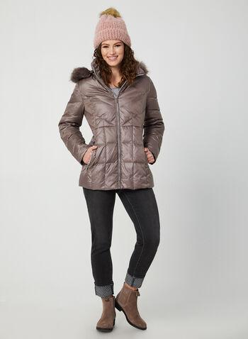 Faux Fur Down Coat, Purple,  coat, down coat, down, faux fur, faux fur coat, hooded coat, fall 2019, winter 2019