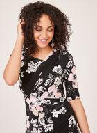 Asymmetric Neck Jersey Dress, Black, hi-res