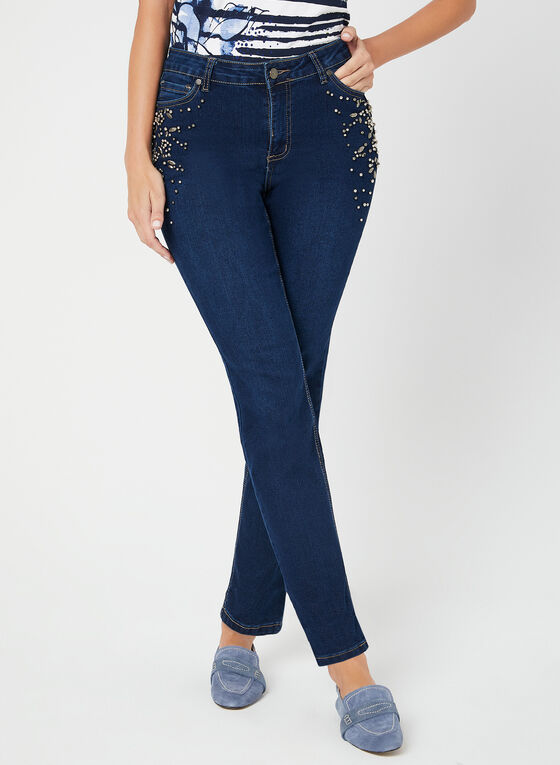GG Jeans - Modern Fit Straight Leg Jeans, Blue, hi-res