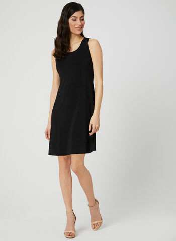 Sleeveless Reversible Dress, Black, hi-res