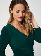 3/4 Sleeve Jersey Jumpsuit, Green, hi-res