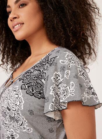 Hamilton - Lace Print Pajamas, Black, hi-res