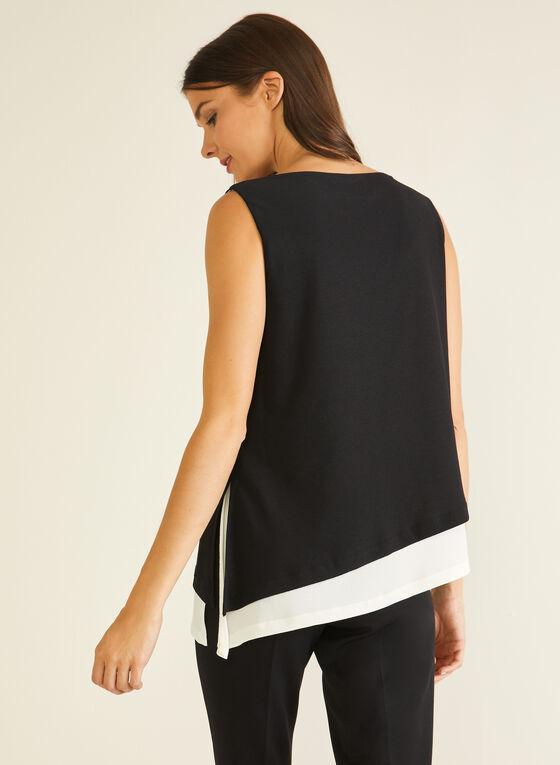 Asymmetric Sleeveless Top, Black