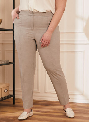 City Fit Straight Leg Pants, Grey,  pants, city fit, straight leg, mid rise, pleats, ankle, pockets, spring summer 2020