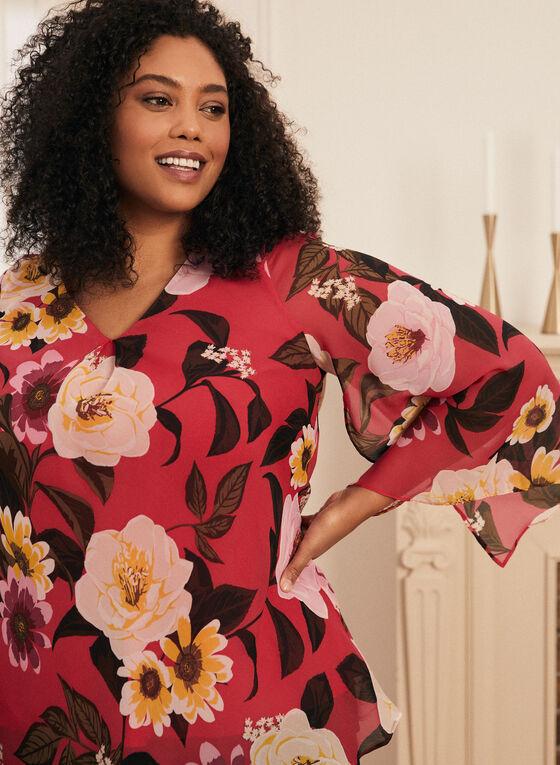 Floral Print Long Sleeve Blouse, Multi