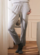Pantalon en tricot à enfiler, Gris