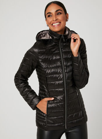 Nuage - Packable Down Coat, Black, hi-res