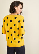 Boat Neck Jacquard Sweater , Yellow